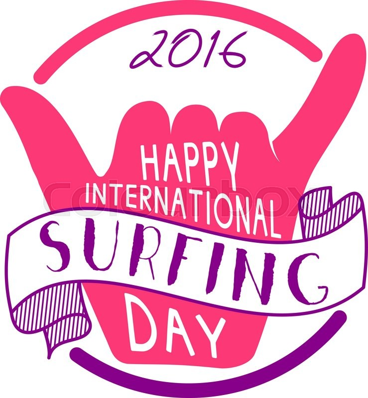 Summer international surfing day 2016 tattoo design. Vector ...