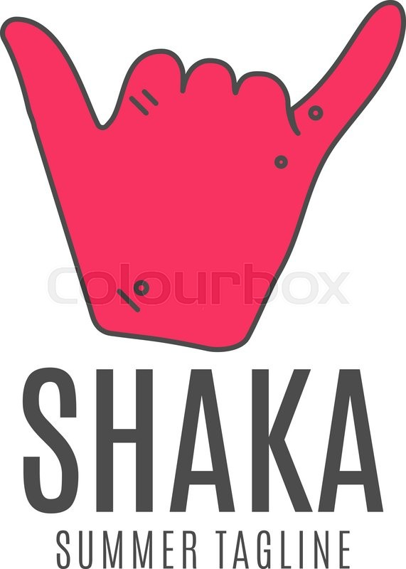 Shaka Vector Logo Icon Surfing Symbol Shaka Logo Surf