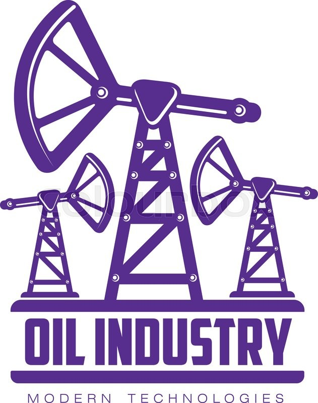 Stock vector of 'set of logos with oil, vectors flat illustration isolated on white background. the oil company. the industry of oil and gas, construction logo on petroleum production'