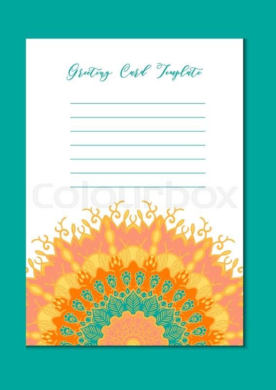 Business mandala card template. Oriental ethnic pattern ...