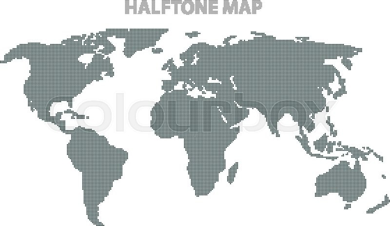 Vector illustration of a world map halftone world map infographics stock vector of vector illustration of a world map halftone world map infographics element gumiabroncs Image collections