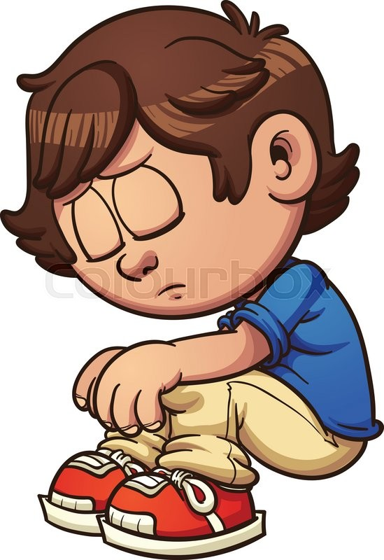 sad kid sitting vector clip art illustration with simple gradients rh colourbox com sad boy clipart black and white Sad Face Clip Art