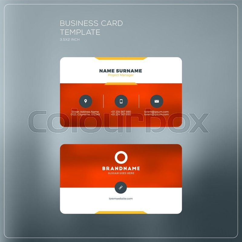 Corporate business card print template personal visiting card with corporate business card print template personal visiting card with company logo black and yellow colors clean flat design vector illustration reheart Gallery