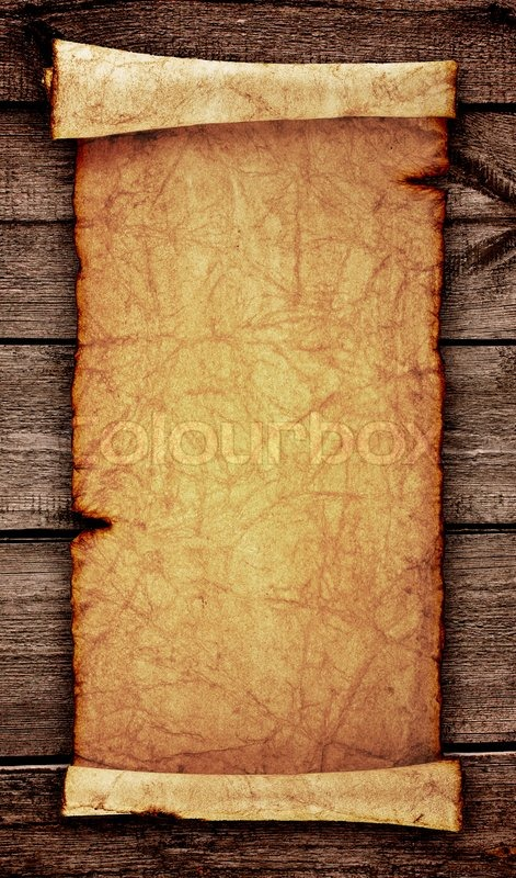 scroll of old parchment, isolated on a white background | stock, Powerpoint templates