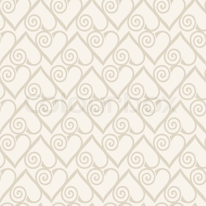 Stock image of ' Retro seamless pattern. Abstract hearts on beige background'
