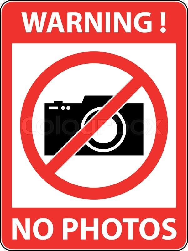 No Photography Camera Prohibited Symbol Sign Indicating The