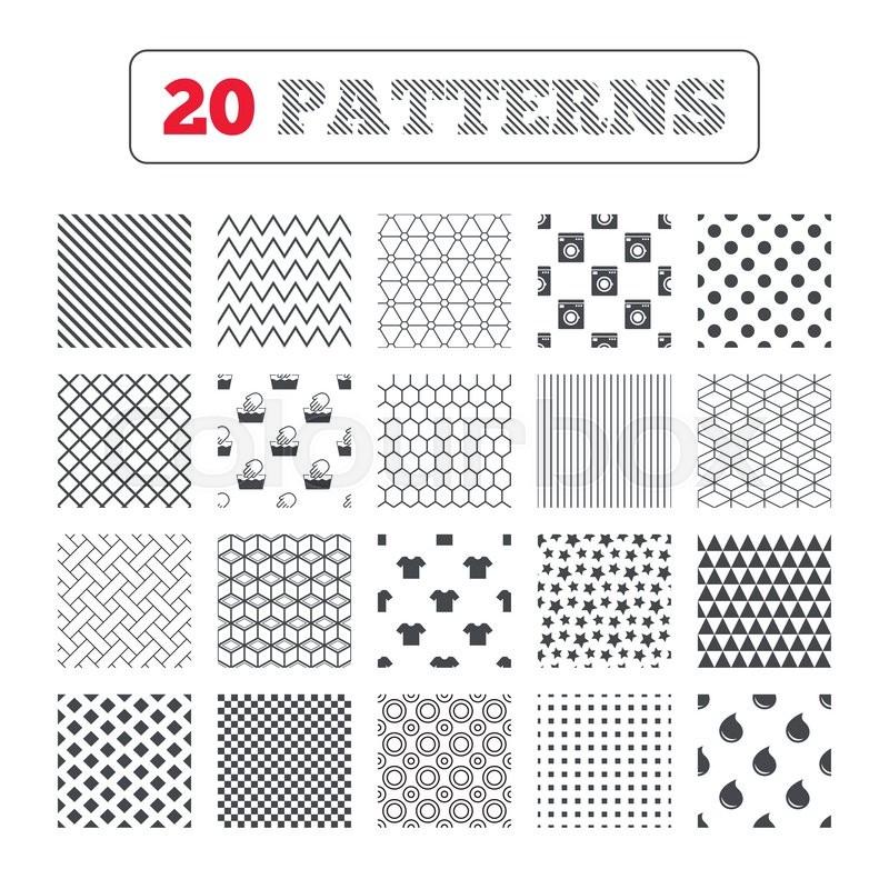 Ornament Patterns Diagonal Stripes And Stars Wash Machine Icon