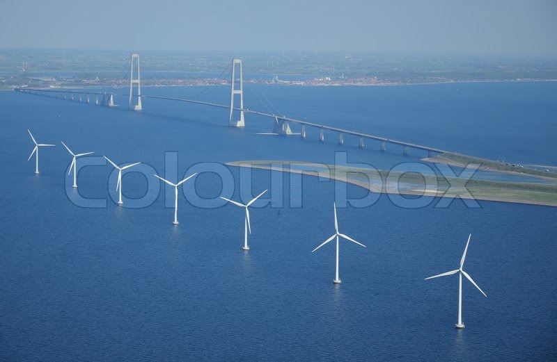 Stock foto af 'Aerial photography over The Great Belt Bridge'