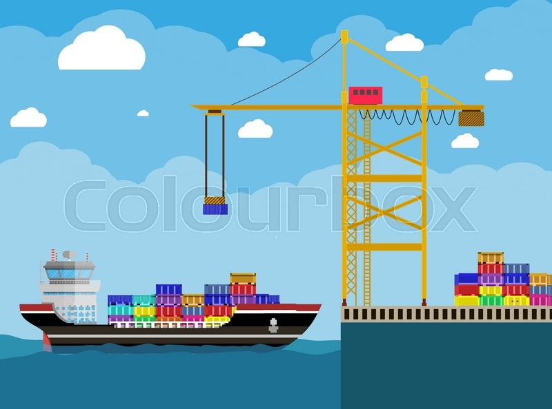 River Ocean And Sea Freight Shipping By Water Cargo Ship