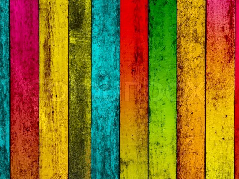 Multicolored Wood Background | Stock Photo | Colourbox