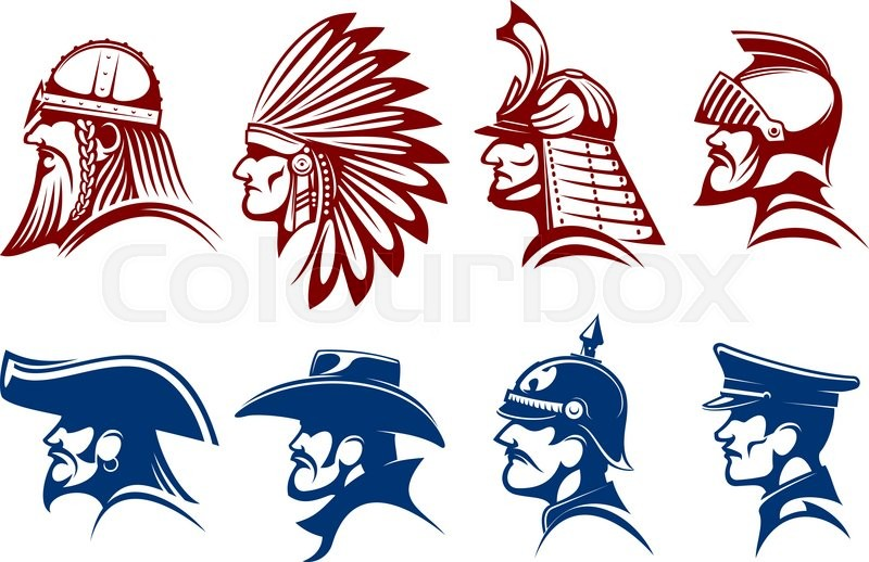 Pirate And Cowboy Viking Warrior And Native American Indian