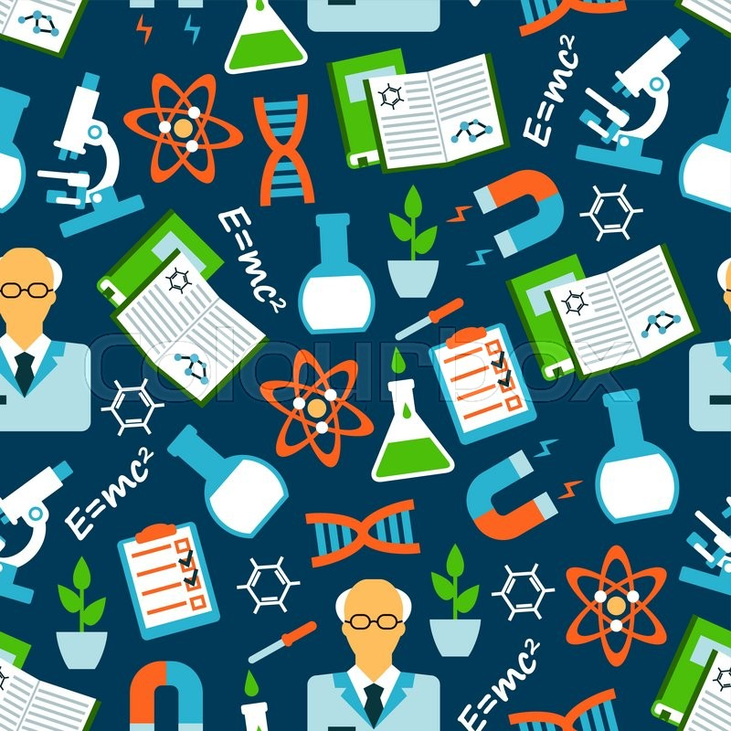 Science Laboratory Background Design: Seamless Background Of Science ...