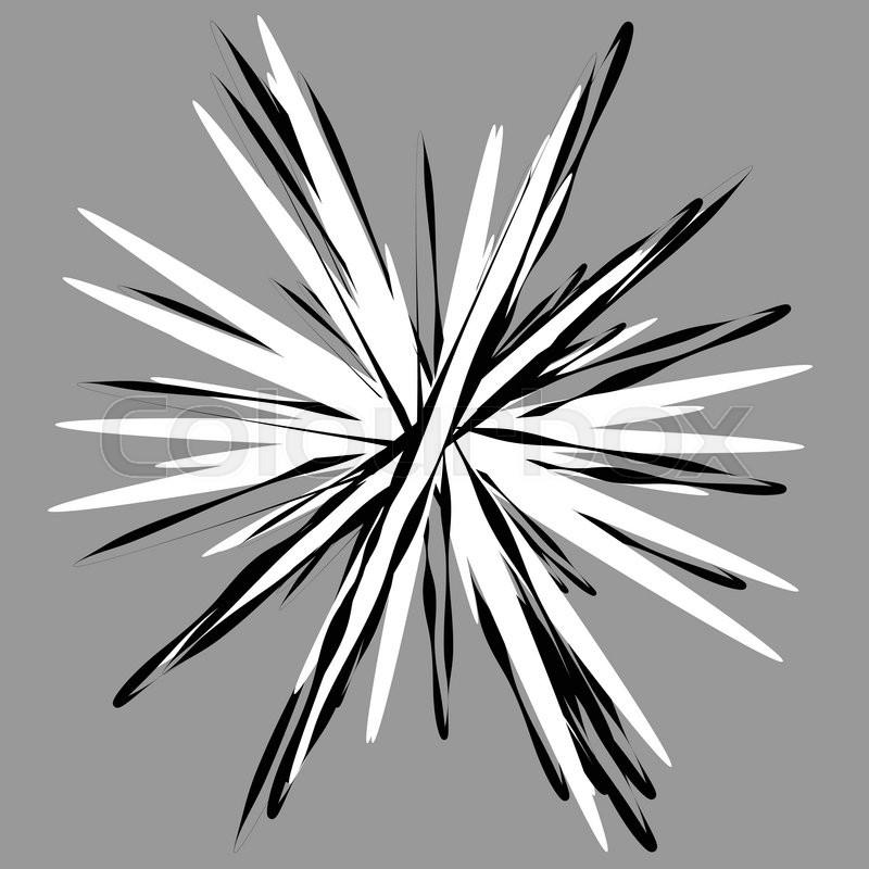 random radial shape  abstract geometric element  asymmetrical unique shape