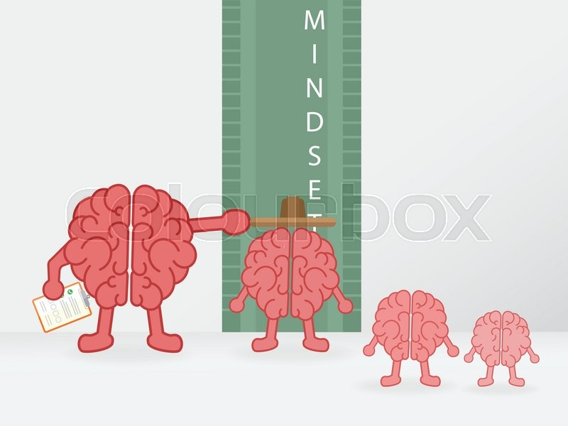 Growth mindset. height brain measuring | Stock Vector | Colourbox