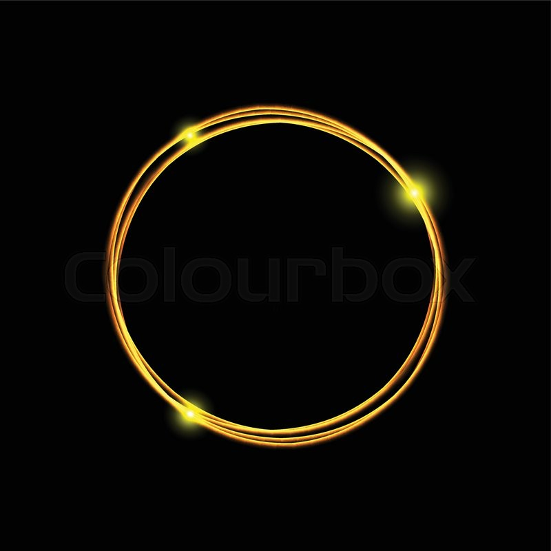 Energy frame. Magic light neon energy circle. Glowing fire ring ...