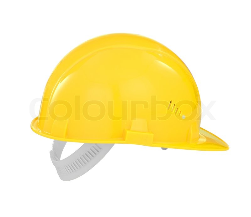 9604ec78 Yellow safety builder hard hat isolated ... | Stock image | Colourbox