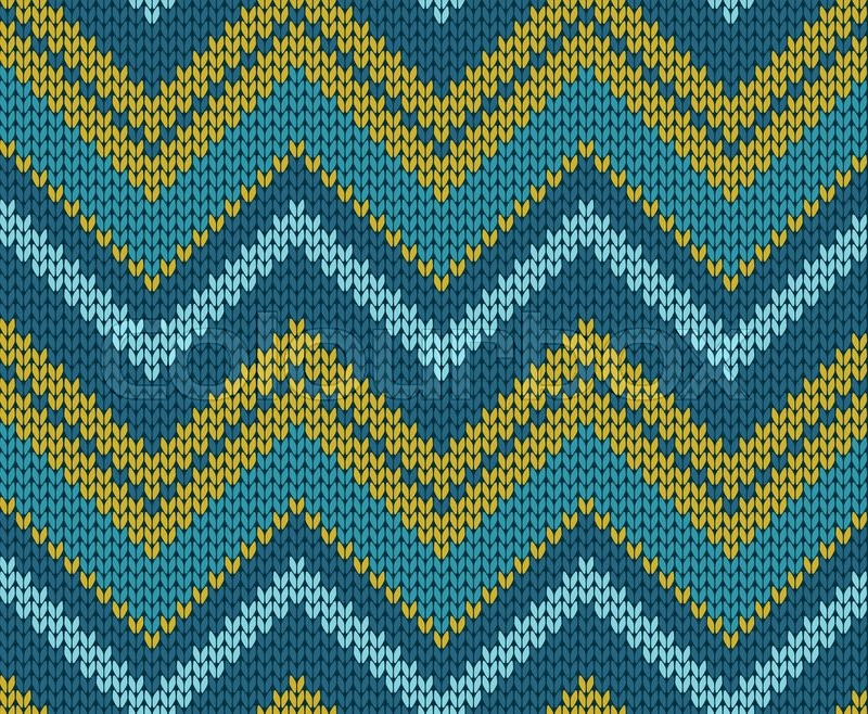 Seamless Zigzag Knitted Pattern Stock Vector Colourbox