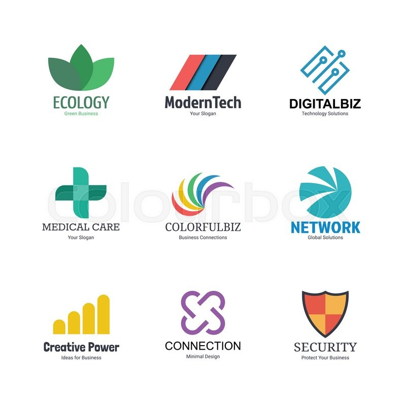Abstract logo icons design, vector ... | Stock vector ...