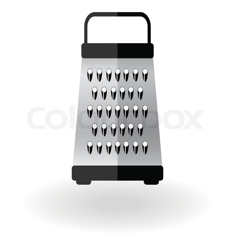 Grater metallic icon vector logo sign illustration ... Grate Cheese Clipart