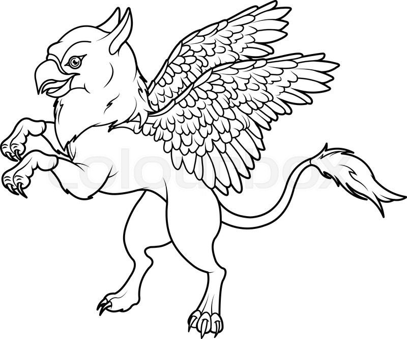 Coloring Inspirations Greek Mythology Pages 77 New: Coloring Page Of Magic Flying Griffin