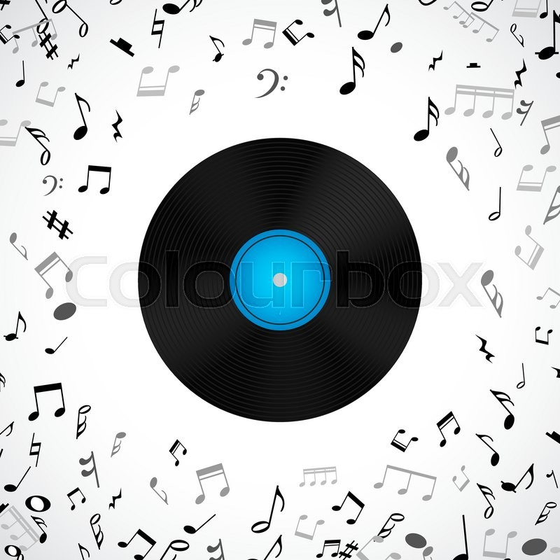 Abstract Musical Background With Vinyl Record Album Lp