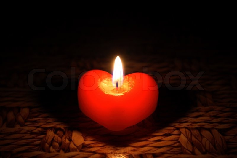 Candle In Form Heart Stock Photo Colourbox