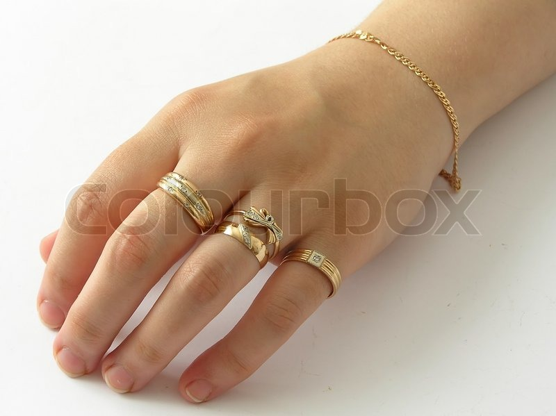 hand with gold rings stock photo colourbox. Black Bedroom Furniture Sets. Home Design Ideas