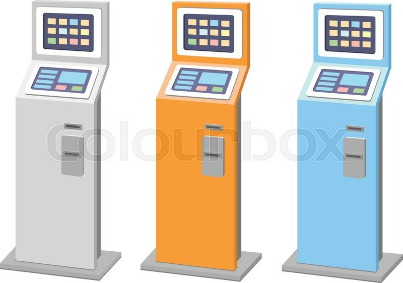 Payment terminals set  isolated     | Stock vector | Colourbox