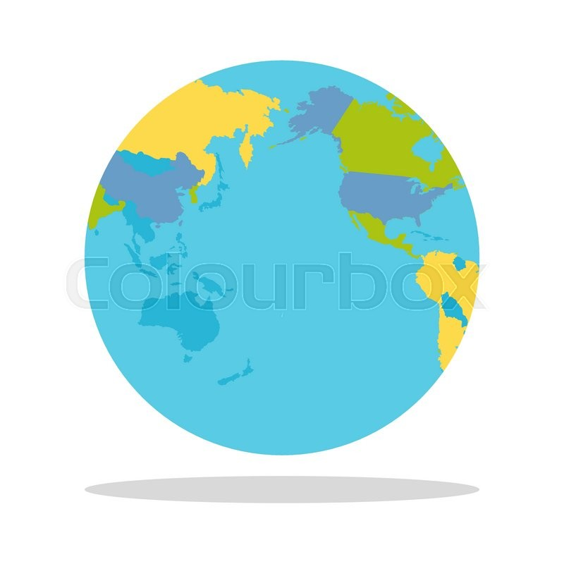 Planet earth vector illustration world globe with political map planet earth vector illustration world globe with political map countries silhouettes on the planet surface global world concept east west gumiabroncs Gallery