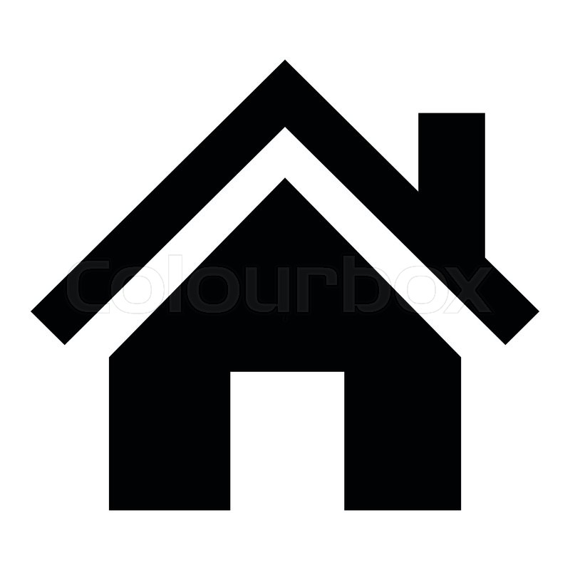 flat design house pictogram icon vector illustration stock vector rh colourbox com house icon vector white house icon vector free download