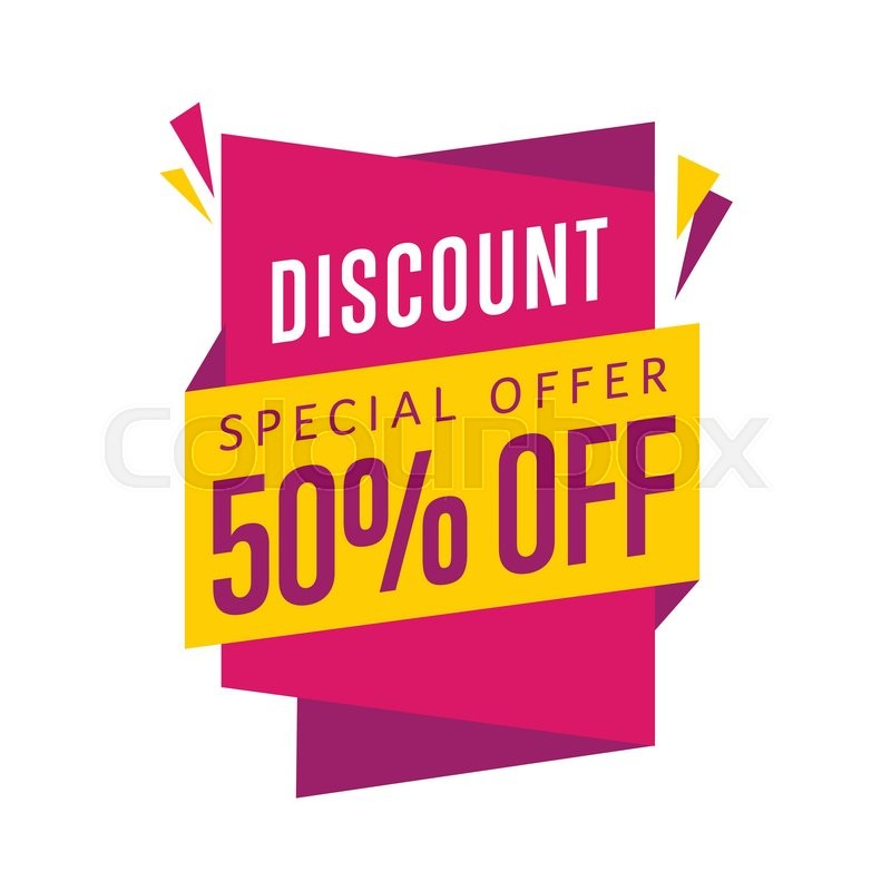 Discount tag vector isolated. Sale sticker with special ...
