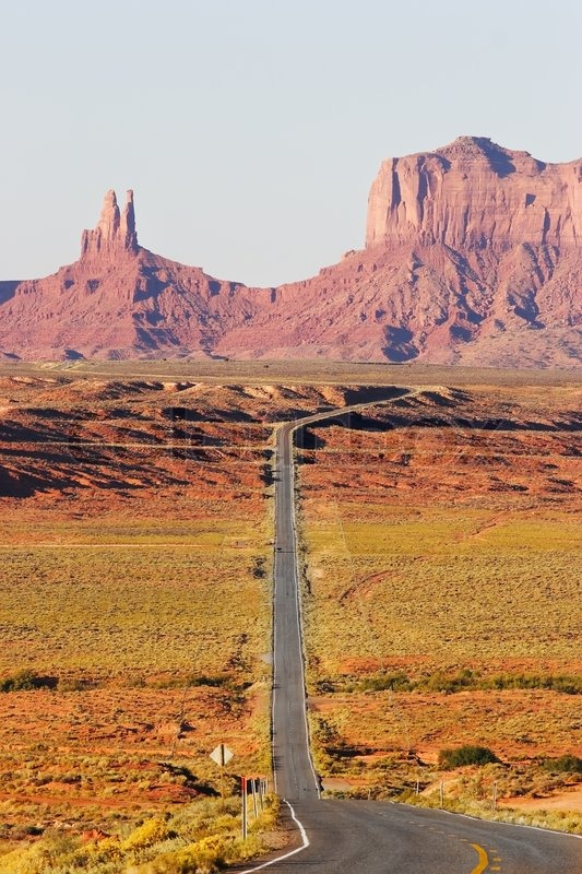 Great American Road Monument Valley In The Red Desert