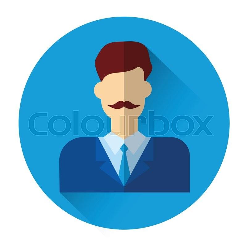 Profile Icon Male Avatar Business Man     | Stock vector