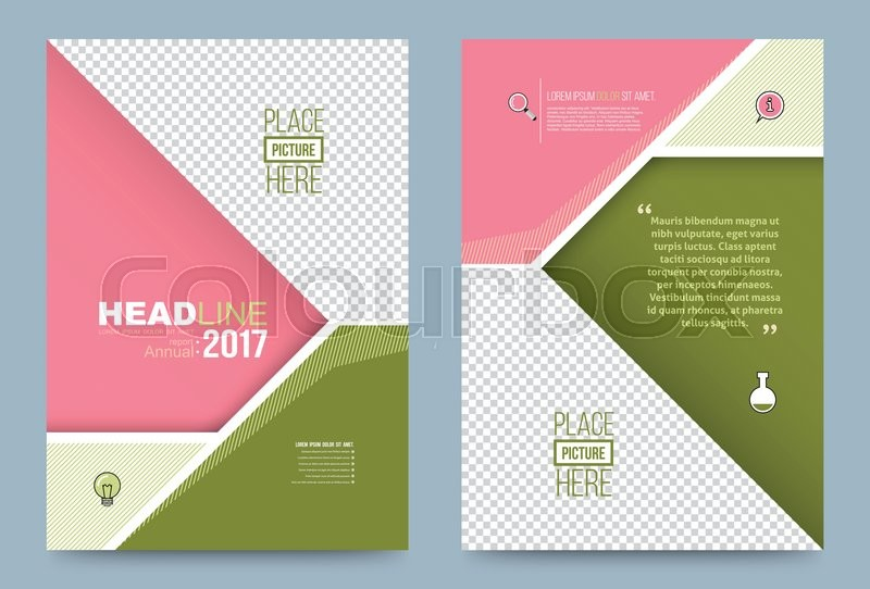 Book Front Cover Layout : Vector cover design template simply and elegant style can
