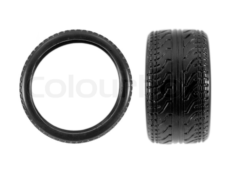 low profile tires isolated on white background stock photo colourbox. Black Bedroom Furniture Sets. Home Design Ideas