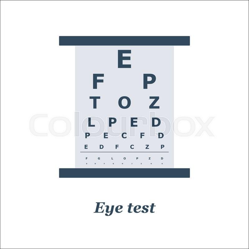 Illustration Of Eye Test Chart Vector Optician Ophtalmology