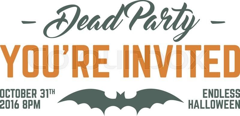 Happy halloween 2016 dead party invitation label typography stock vector of happy halloween 2016 dead party invitation label typography insignia for celebration stopboris Images