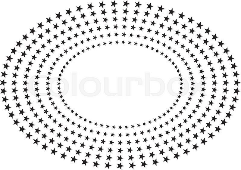 Star frame oval | Stock Vector | Colourbox