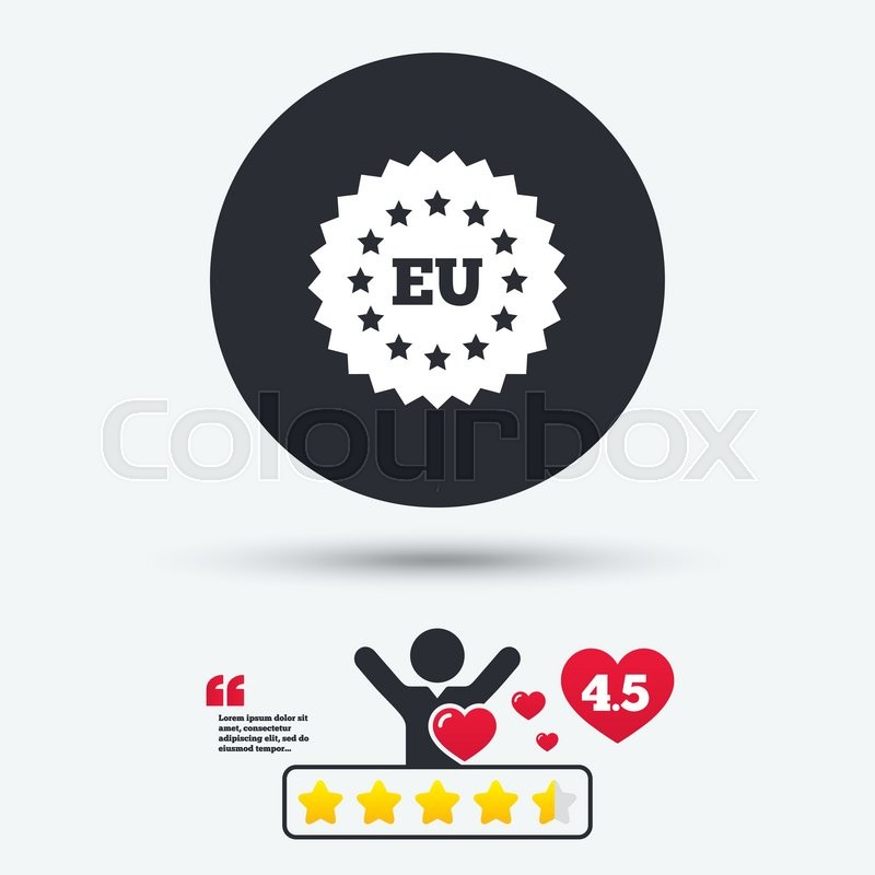 European Union Icon Eu Stars Symbol Star Vote Ranking Person With