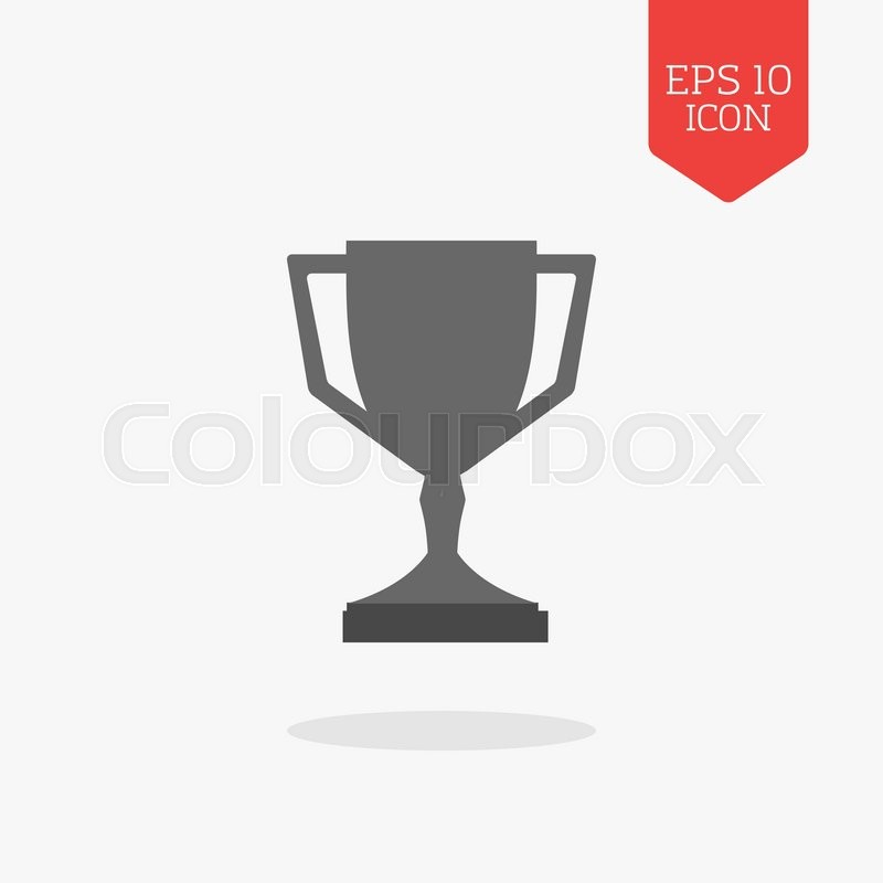 Stock Vector Of Trophy Cup Icon Winner Award Concept Flat Design Gray Color