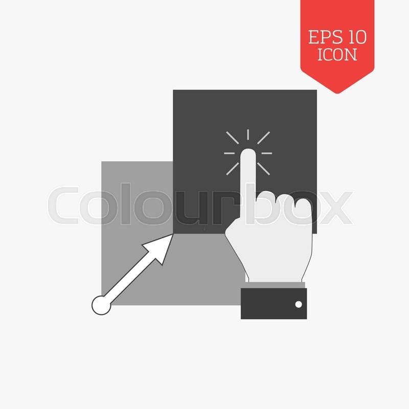 Copy Paste Icon Flat Design Gray Color Symbol Modern Ui Web