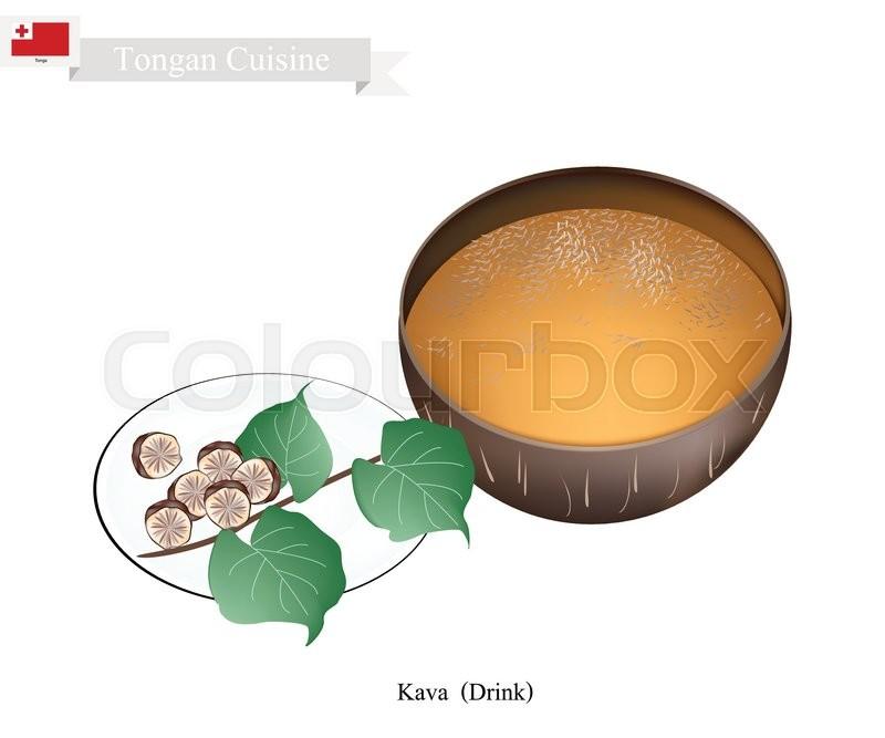 Tongan Cuisine, Illustration of Kava     | Stock vector