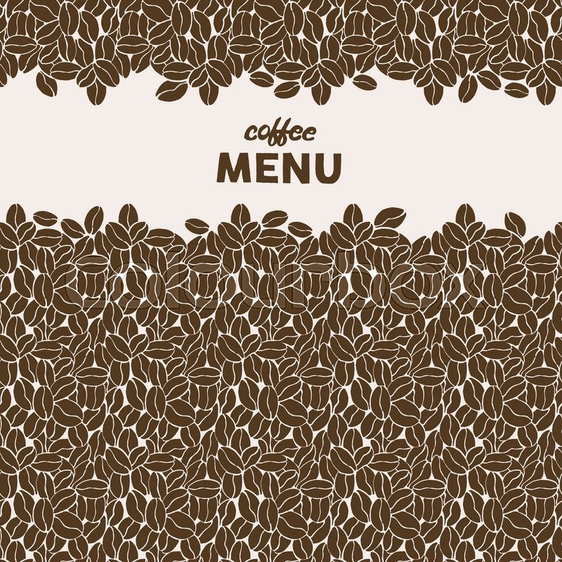 Hand Drawn coffee beans. Seamless pattern. Hipster stylized ...