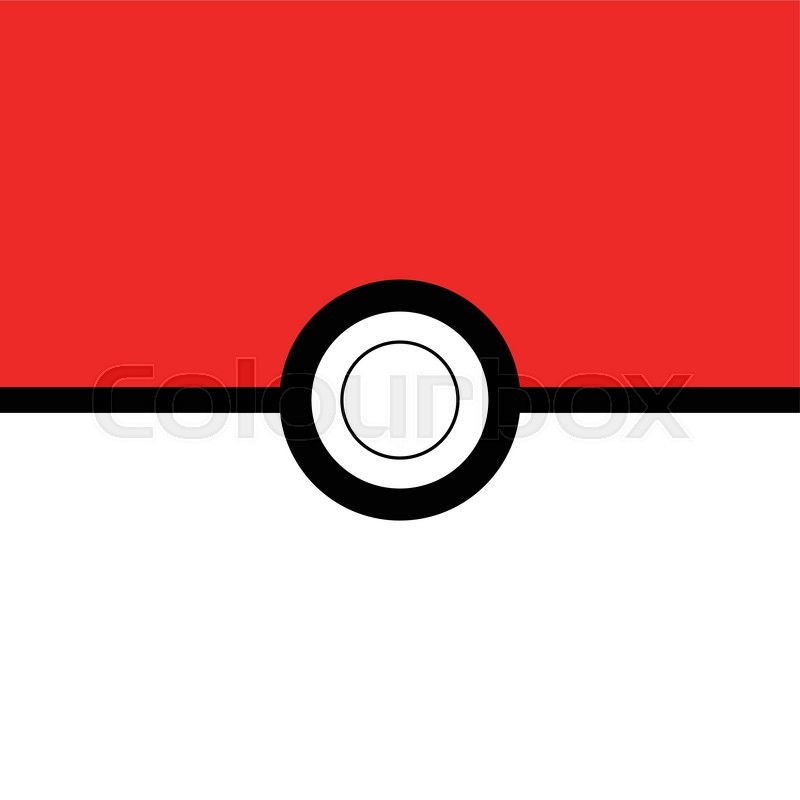 pokeball background inspired by pokemon go vector