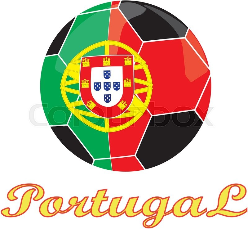 Portugal Football And Symbol Of Country Eps10 Stock Vector