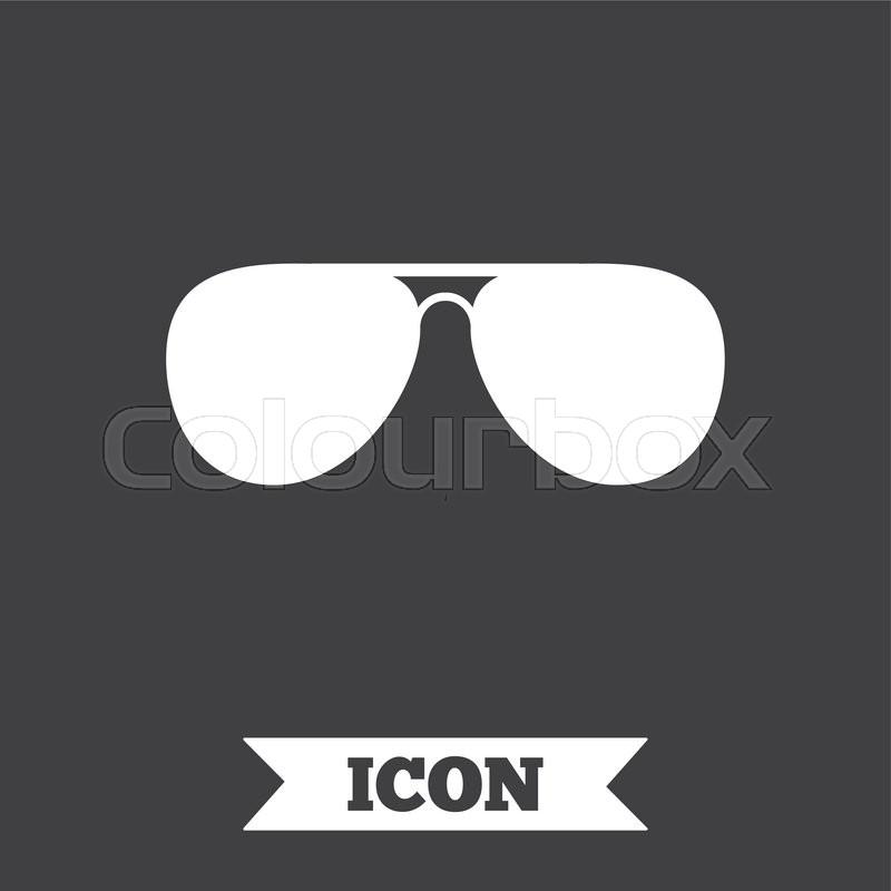 Aviator Sunglasses Sign Icon Pilot Glasses Button Graphic Design