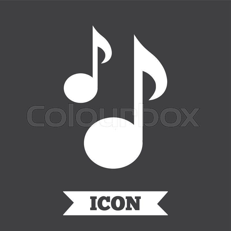 Music Notes Sign Icon Musical Symbol Graphic Design Element Flat