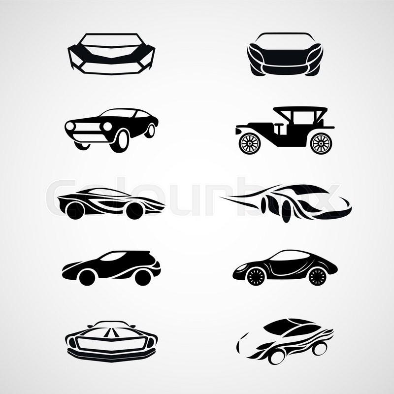 car logo icon vector set stock vector colourbox