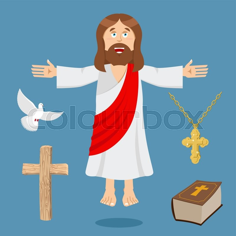 Jesus And Accessories Holy Biblical Set Son Of God And Bible