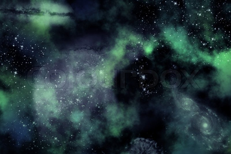 Digital Illustration Of Outer Space Stock Photo Colourbox